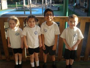 Picture of children wearing PE Uniform.