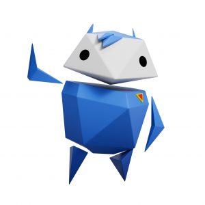 Interland blue character